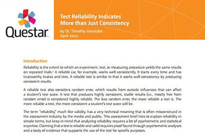 Test Reliability Indicates More than Just Consistency